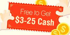 Free to Get $3-25 Cash