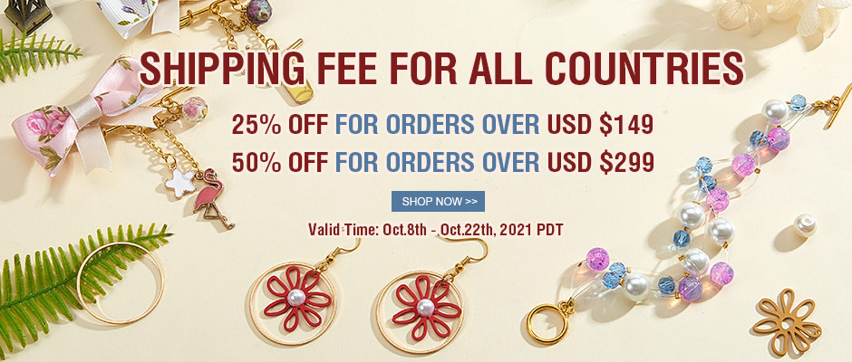 UP TO 50% OFF Shipping Fee