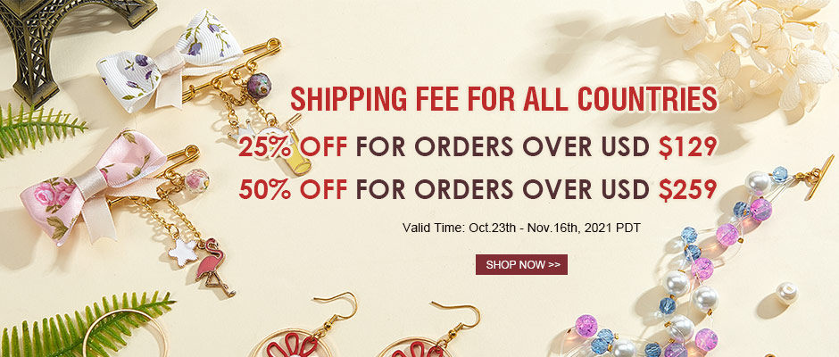 UP TO 50% OFF Shopping Fee